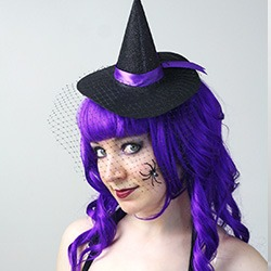 how to make a mini felt witch hat