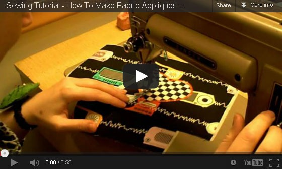 How to sew fabric appliques u2013 whatthecraft