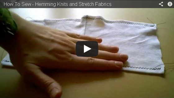 how to hem knit fabrics stretch tutorial