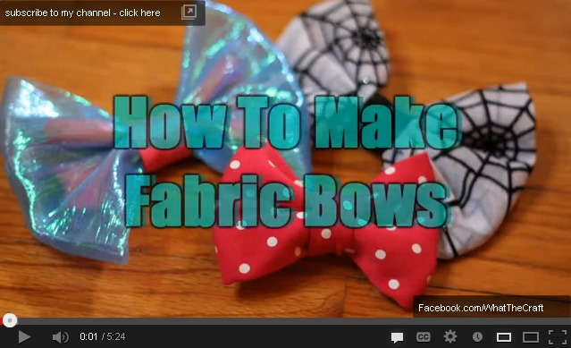 how to sewing fabric hair bows