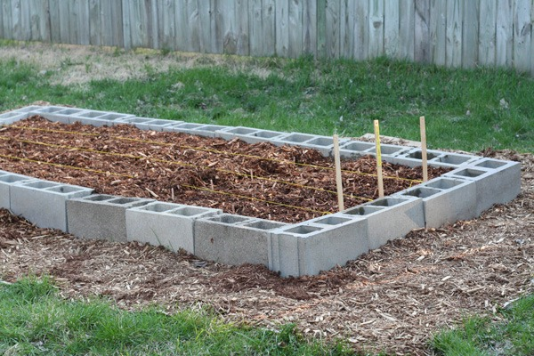 how to build flower beds on concrete