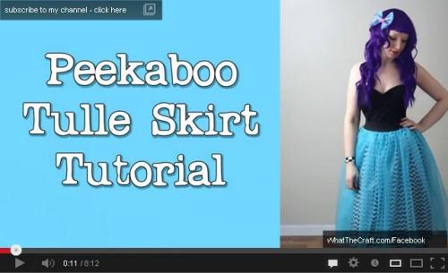 peekaboo tulle ruffle skirt tutorial