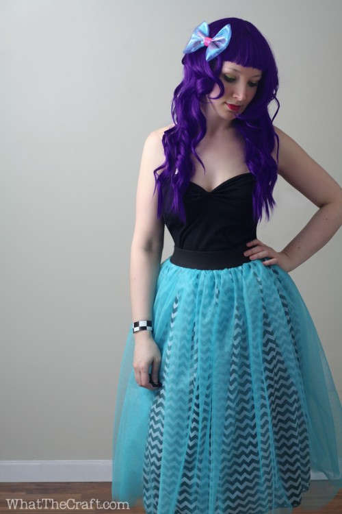 peekaboo tulle skirt tutorial