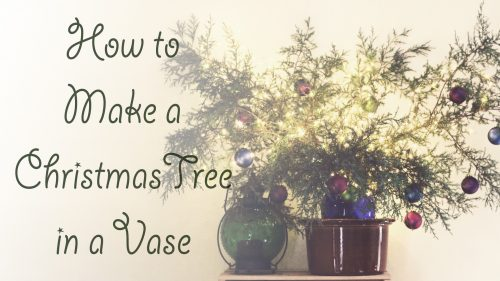 How To Make A Christmas Tree In A Vase Holiday Decorating Tutorial