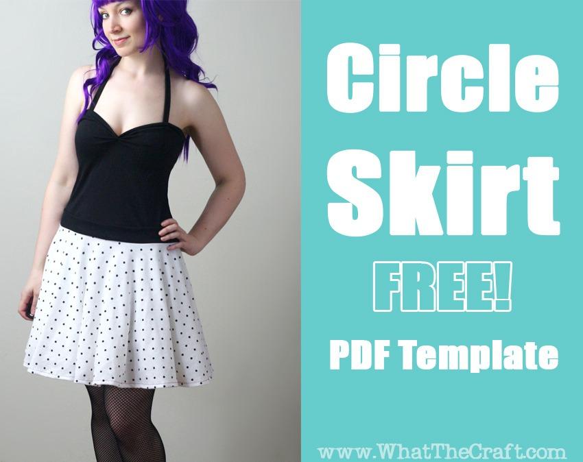 free circle skirt tempate