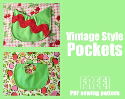 photo relating to Pocket Pattern Printable referred to as No cost Classic Structure Pockets (3 patterns!) Printable PDF